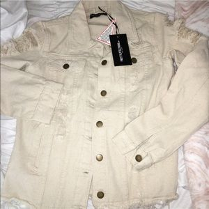 Khaki distressed jacket
